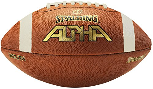 Spalding Alpha Leather Football, Light Brown/Red, ()