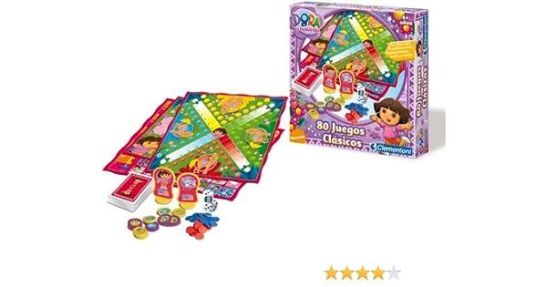 Clementoni - Juego 80 En 1 Dora La Exploradora 17-65453: Amazon.es: Juguetes y juegos