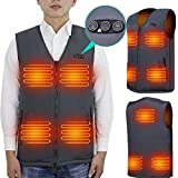 ARRIS Heated Vest 7 Heating Pads Men Women Size Adjustable Electric Heating Clothing for Hiking, Camping, Fishing, Motorcycling with 7.4V Battery: more info