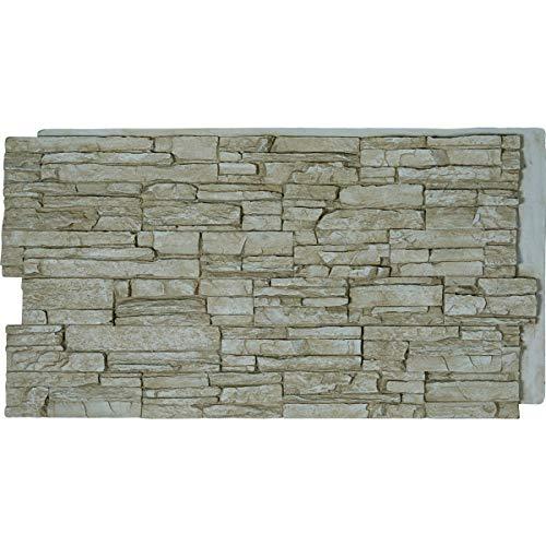 (Ekena Millwork PNU24X48CNSD Canyon Ridge Stacked, Stonewall Faux Stone Siding Panel, 48