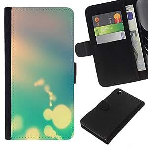 YiPhone /// Tirón de la caja Cartera de cuero con ranuras para tarjetas - Boker Colores - HTC DESIRE 816
