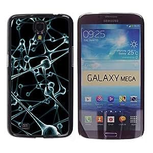 Caucho caso de Shell duro de la cubierta de accesorios de protección BY RAYDREAMMM - Samsung Galaxy Mega 6.3 I9200 SGH-i527 - Molecules Anatomy Human Body Art Modern