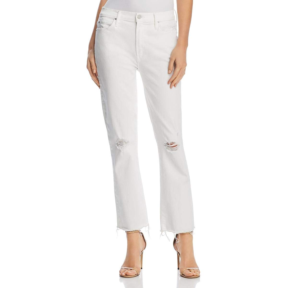 Little Missin Mother Womens Rascal Distressed MidRise Ankle Jeans