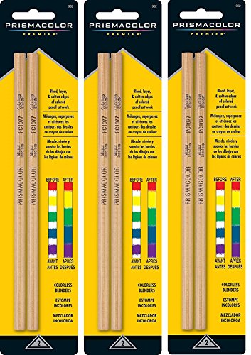 Prismacolor Colorless Blender Premier Ydithu Pencils, 2 Count (Pack of 3) by Prismacolor