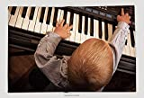 Supersoft Fleece Throw Blanket Happy Childhood And Music Little Boy Child Kid Playing On The Black Digital Midi Keyboard Piano 201741857