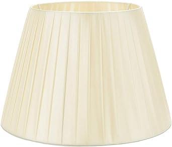 DULEE 14 E27/E14 Screw Tela Pantalla de Lámpara de Pie Mesa y Lámpara de Noche,(Top)22cm x (Altura)25cm x (Fondo)36cm,Beige: Amazon.es: Iluminación
