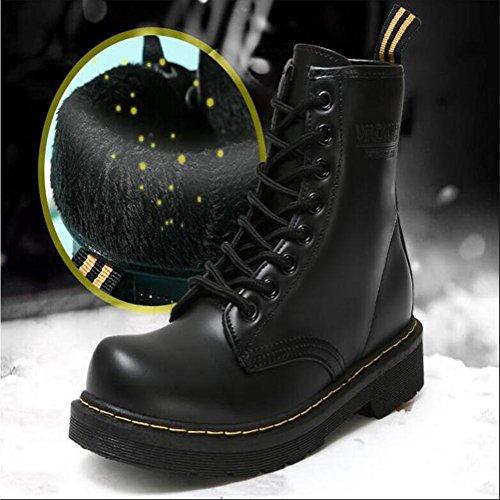 Donne / Ladies Inverno Martin Boots / Shoes.Plus cachemire impermeabile antiscivolo PU avanzata maniche insaccate Stivaletti Nero / Rosso , black , 40
