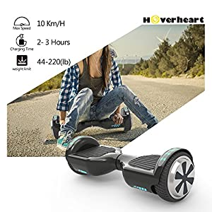 "Hoverboard 6.5"" UL 2272 Listed Two-Wheel Self Balancing Electric Scooter with Top LED Light (Black)"