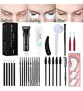 Libeauty Lash Tint Dye kit,Eyebrow Eyelash Tint Kit Black At Home Professional Training Lash Brow...