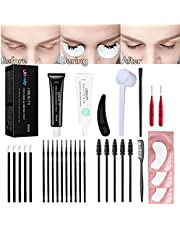 Libeauty Lash Lift And Tint At Home, Eyelash Lift Kit With Black color, lash Perm And Dye Kit, Professional Training Kit Lifts Lash Up & Black For 6 Weeks