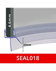 Pre Curved Shower Screen Door Seal | Fits 4, 5 or 6mm Glass | Seals Gaps of Up to 23mm | 850mm Long | SEAL018