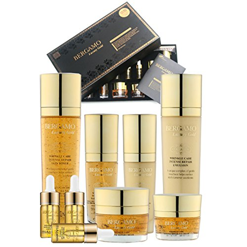 [BERGAMO] Luxury Gold Skin Care Gift Set (9 items)/Wrinkle Care/Korean Cosmetics