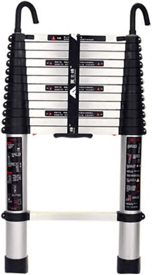 LJSJT Escalera Telescópica Escalera Recta con Gancho Telescópico con un Clic Aleación de Aluminio Ligero Robusto y Duradero Peso del rodamiento 150kg Múltiples tamaños (Tamaño : 4.5m): Amazon.es: Hogar