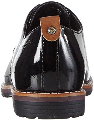 Bugatti V6901pr6l, Zapatos de Cordones Derby para Mujer negro