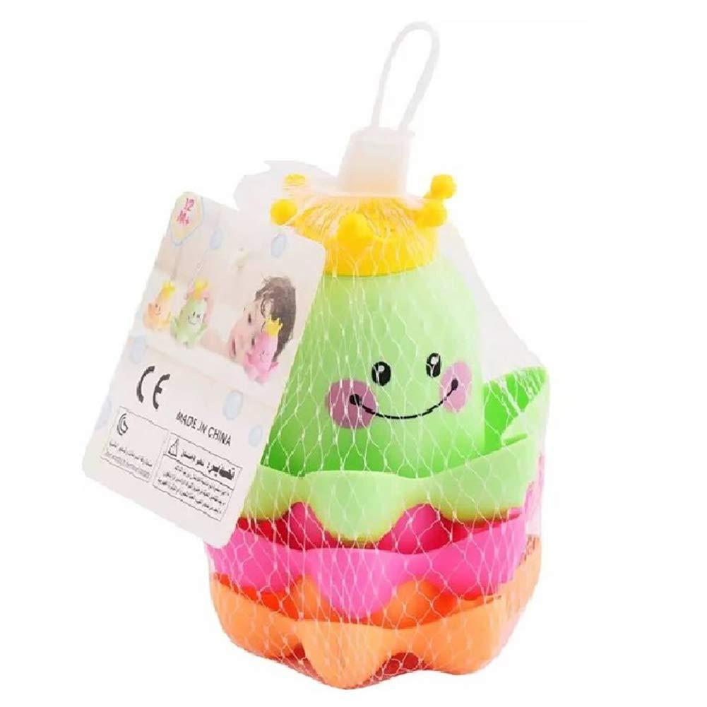 DDG EDMMS 3 piezas taza de anidamiento de apilamiento juguete taza de animales marinos juguetes de bañ o de juguete del niñ o del bañ o no hay juguetes de playa molde, para niñ os y niñ as de los niñ o
