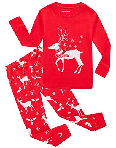 KikizYe Big Girls Boys Christmas Pajamas Sets 100%