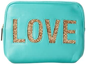 BCBGeneration Love Zip Pouch Clutch,Teal Combo,One Size