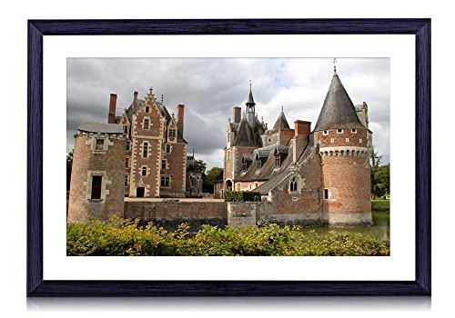 (Chateau du Moulin - World- #36270 - Art Print Black Wood Framed Wall Art Picture (20x14 inches Framed))