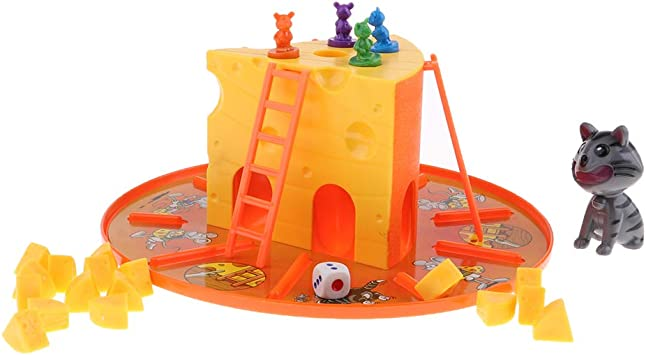 IPOTCH Juego De Mesa Clásico De Queso De Gato Y Ratón - Ratones De 4 Piezas, Padres Educativos - Juguetes De Interacción para Niños: Amazon.es: Juguetes y juegos