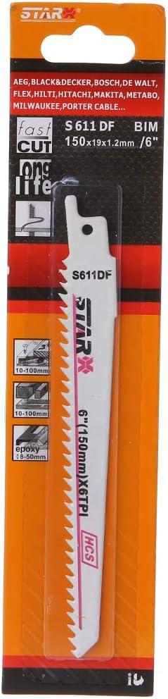 S611DF 150 Mm 6 S/äbels/ägeblatt Mit Hohem Kohlenstoffgehalt Wirksam Zum Schneiden Von Holz Holzbearbeitung