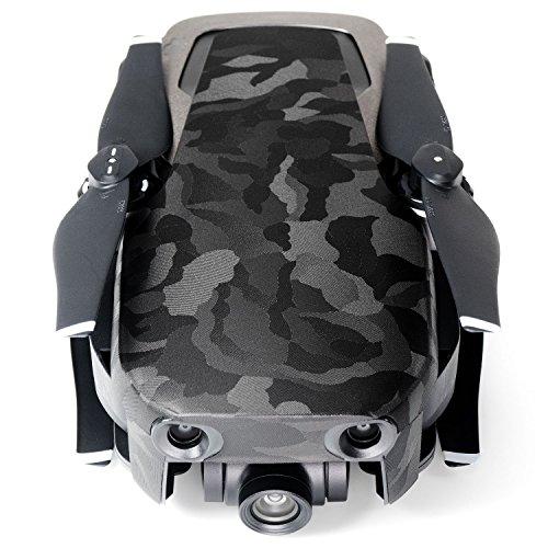Wrapgrade Poly Skin for DJI Mavic Air | Unit A: Colored Parts and Rear Trim (Black Bumpy CAMO)