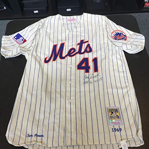 Tom Seaver Autographed Jersey - Beautiful HOF 92 98 8% Votes 1969 Game Model - Autographed MLB Jerseys