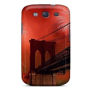 Fashion Case Cover For Galaxy S3(new York City Brooklyn Bridge)