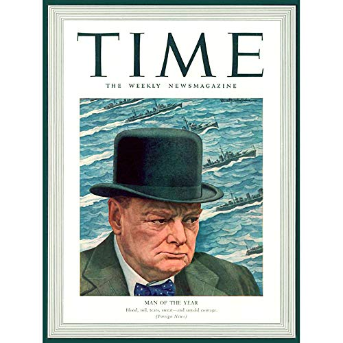 Wee Blue Coo Magazine War 1941 Winston Churchill 'Man of The Year' Time Large Art Print Poster Wall Decor 18x24 - Winston Picture Churchill