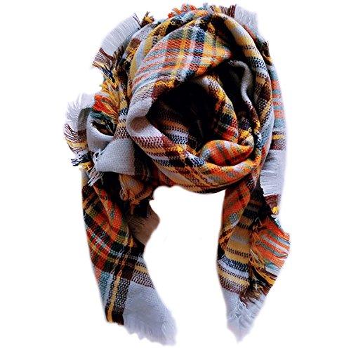 Jastore Kids Girls Boys Stylish Grid Warm Blanket Scarf Gorgeous Wrap Shawl (Color 11)