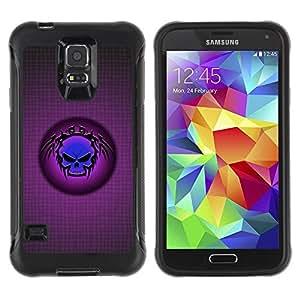 Paccase / Suave TPU GEL Caso Carcasa de Protección Funda para - Blue Tribal Skull - Samsung Galaxy S5 SM-G900