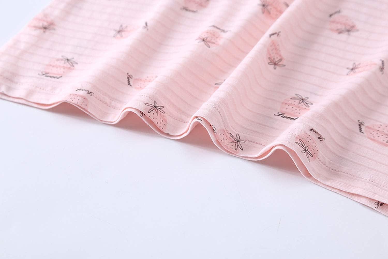 AOSKERA M/ädchen Ananas Nachthemd 100/% Baumwolle Erdbeer Nachtw/äsche 3-10 Jahre