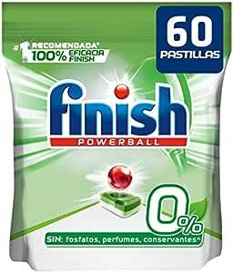 Finish Powerball 0% - Pastillas para el lavavajillas todo en 1 ...