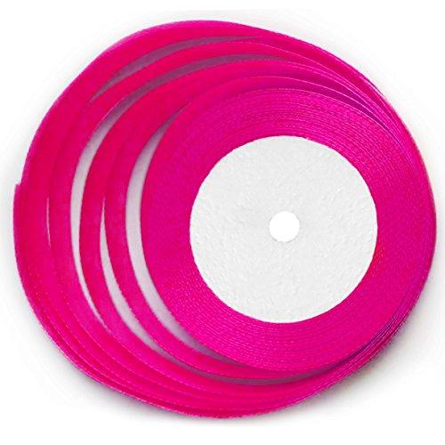 KGS Satin Ribbon   25 Yards x 1/2 inch   1 roll/Pack (Hot ()
