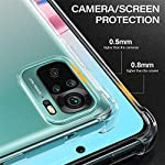 Shining Zon Soft Silicon Shockproof Camera Protective Back Cover for Redmi Note 10s / Note 10 Back Case – Transparent
