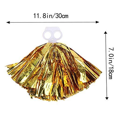 Yeahibaby 30 Poms Cheerleading Party Danse Taille 2pcs Pom Faveur De Cm Accessoires Or Kit Sports rt7nrZzqw8