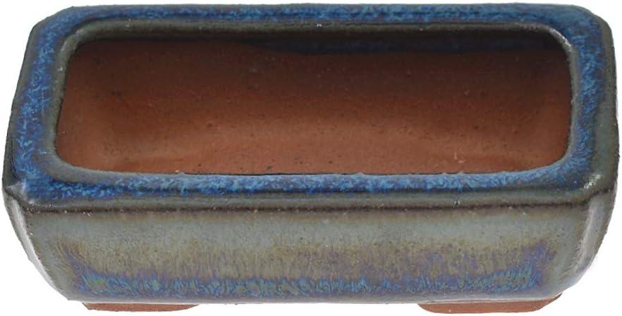 Kesheng adorablemente mini maceta de cerámica esmaltada Bonsai maceta suculenta maceta maceta para decoración de mesa