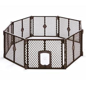 """North States MyPet Indoor/Outdoor Petyard: Pet enclosure with lockable pet door. Freestanding (26"""" tall) 35"""
