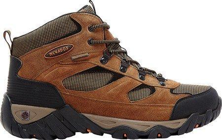 NEVADOS Men's Mesa Mid Waterproof Hiking Boot 9 Wide (2E) Brown/Orange