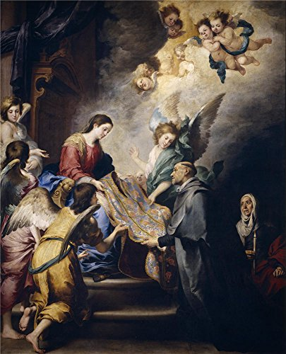 ['Murillo Bartolome Esteban The Virgin Descending To Award Saint Ildefons Ca. 1660 ' Oil Painting, 16 X 20 Inch / 41 X 50 Cm ,printed On Polyster Canvas ,this Reproductions Art Decorative Canvas Prints Is Perfectly Suitalbe For Kids Room Artwork And Home Decoration And] (Old Time Photo Studio Costumes)