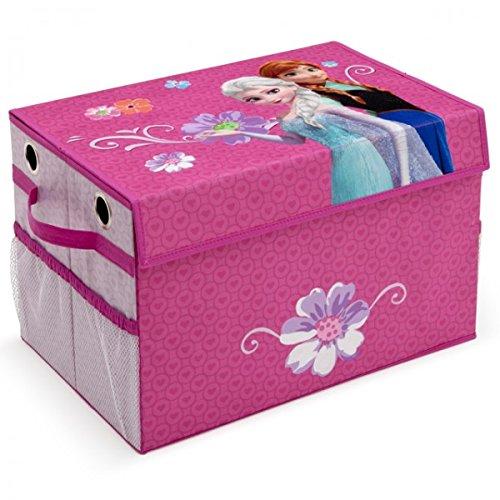 Toy Box faltbar Eisprinzessin FROZEN Spielzeugkiste für Kinder Aufbewahrungsbox Canvas mit Netz NEU Delta Children's Products