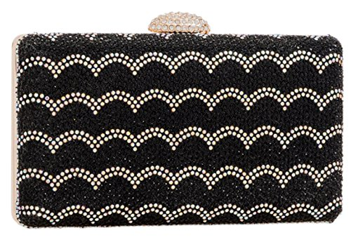 Bag Girly Clutch Girly HandBags HandBags Bag Girly Black Clutch Black Diamante Diamante HandBags Vintage Vintage B1fwSqxCO