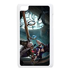 iPod Touch 4 Case White League of Legends Caitlyn 0 LK1567026