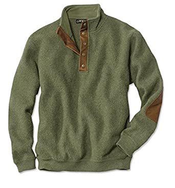 Orvis Boiled-wool Snap-front Pullover: Amazon.co.uk: Clothing