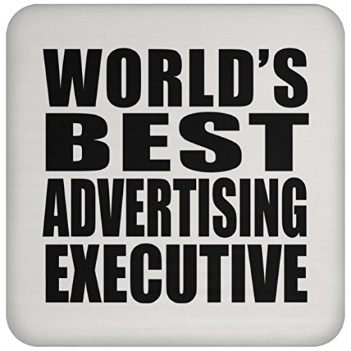 World's Best Advertising Executive - Coaster, High Gloss Coaster, Best Gift for Birthday, Anniversary, Easter, Valentine's Mother's Father's Day - Executive Coaster