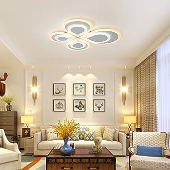 Cttsb Deckenleuchte Schlafzimmer Lampe warm und romantisch Modern ...