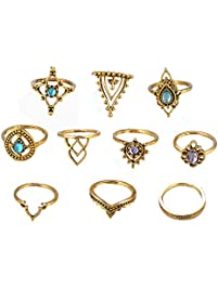 10 pieces vintage gold rings