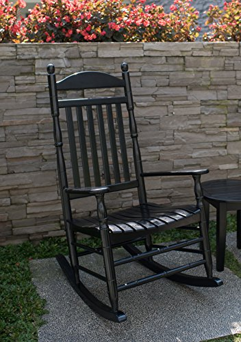 Cambridge Casual AMZ-130635B Bentley Traditional Porch Rocker, Black