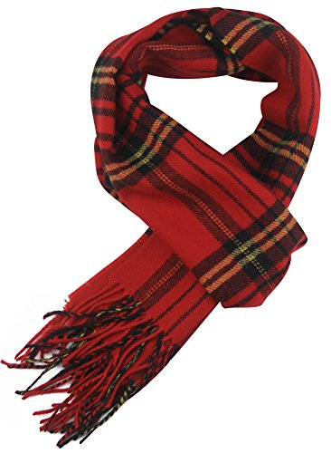 MINAKOLIFE Classic Cashmere Feel Winter Scarf in Rich Plaids