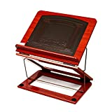 Tabletop Shtender Book Stand Cherry Wood and Faux Leather 2 Positions