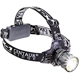Centaur Ridge LED Headlamp - Super Bright, Zoomable, 4 Light Modes, Rechargeable, with Rechargeable Batteries & Wall Charger; Best for Outdoor, Camping, Hiking, Running, Hunting, Work, or Emergency